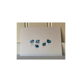 kort med små lamm